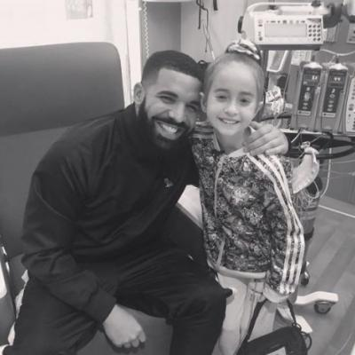 Drake visits 11-year-old heart transplant patient who invited him to her birthday