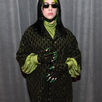 Billie Eilish Is A Slime-Green Gucci Queen On The Grammys Red Carpet