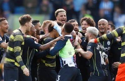 Manchester City survives scare to clinch 2nd straight Premier League title