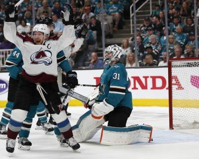 Avalanche pull even with Game 2 road win over Sharks