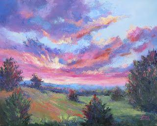 Painted Sky, New Contemporary Landscape Painting by Sheri Jones