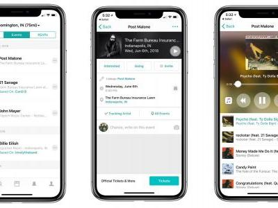 Concert tracking app Bandsintown adds integrated Apple Music streaming with MusicKit