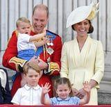 Prince George and Princess Charlotte Show Their Little Brother How It's Done at Trooping the Colour