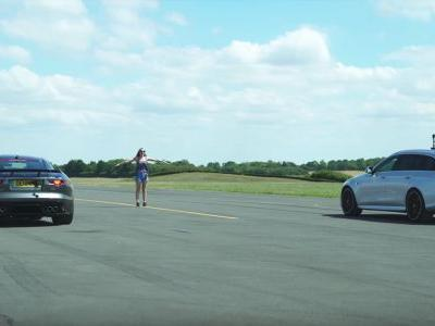 This F-Type SVR Vs AMG E63 S Drag Race Has A Photo Finish