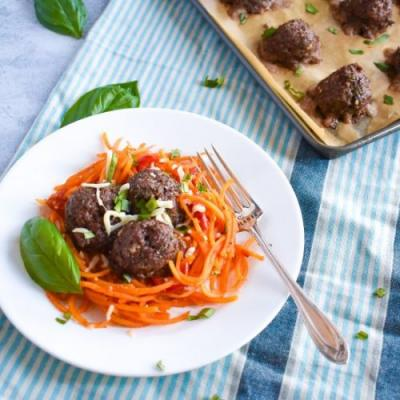 Healthy Paleo Baked Meatballs