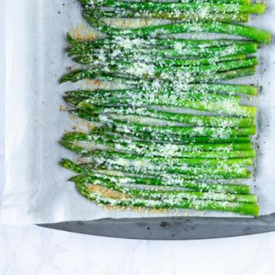 Roasted Lemon Parmesan Asparagus