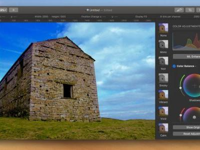 Pixelmator Pro adds redesigned Color Balance tool, new resizing modes, more