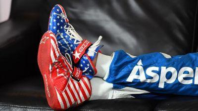 Danica Patricks Wears Awesome American Flag Shoes At Daytona 500 Media Day