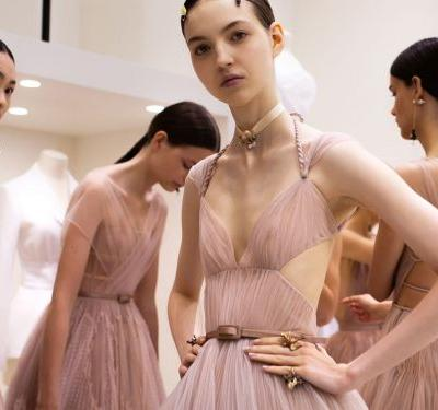 The Prettiest Photos From Backstage At Dior Haute Couture