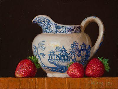 Strawberry still life daily painting