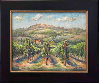 "New ""Ready for Harvest"" Vineyard Painting by Contemporary Impressionist Niki Gulley"