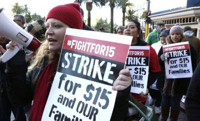 Fast-food workers, others lead protests for higher pay