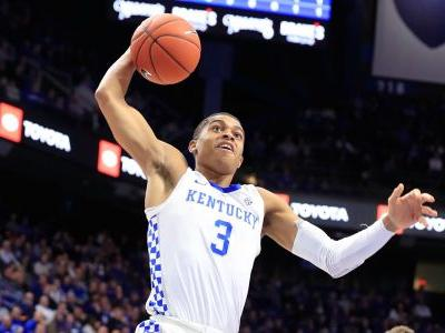 WATCH: Kentucky's Keldon Johnson nails half-court shot to send game vs. Seton Hall into OT