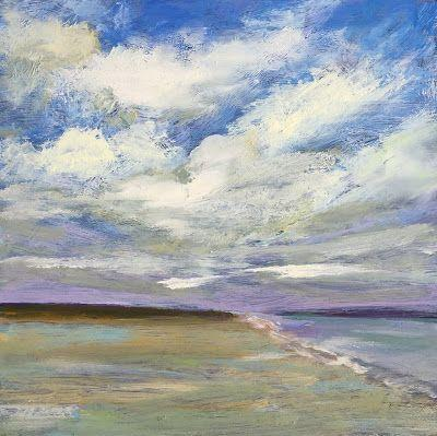 "Contemporary Seascape, ""Beach Days,"" by Amy Whitehouse"
