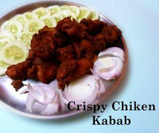 Crispy Chicken Kabab - Who's Hungry
