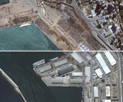 Before-and-after images from space reveal the devastation in Beirut wrought by 2,750 tons of exploding fertilizer