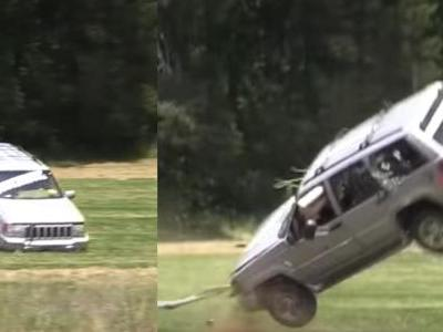 Can You Rip An Engine Out Using A Tow Strap And A Tree?