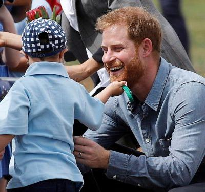 A 5-year-old boy broke royal protocol to rub Prince Harry's beard because his favorite person was Santa Claus