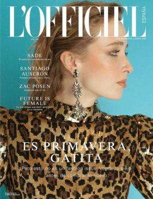 Georgia Howorth in Dolce&Gabbana on the cover of L'Officiel