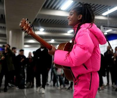 Willow Smith Launches The New Prada Linea Rossa Collection With a Performance in the London Tube