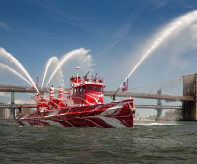 Flow Separation: Tauba Auerbach Transforms a New York City Fireboat With Contemporary Camouflage