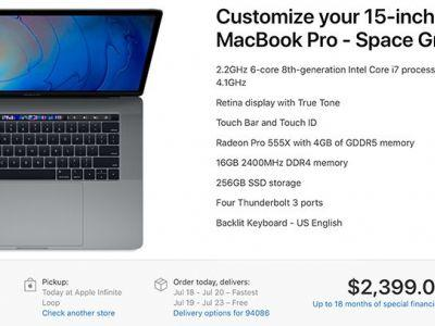 2018 MacBook Pro Models Now Available for In-Store Pickup in the United States