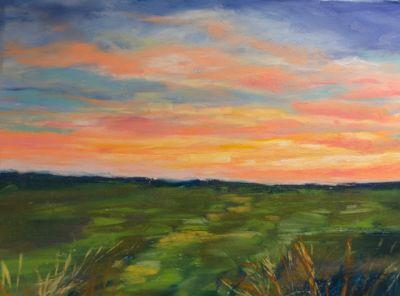 """""""Late Afternoon Sky"""" Pastel by Judy Wilder Dalton"""