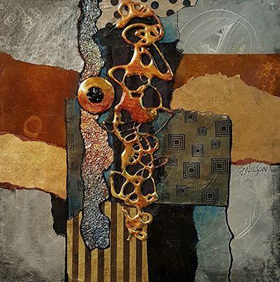 "Metals and Mixed Media Contemporary Abstract, ""Metals and More"" by colorado Mixed Media Artist Carol Nelson Metals and Mixed Media Contemporary Abstract, ""Metals and More"" by colorado Mixed Media Artist Carol Nelson"