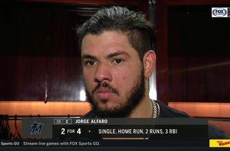 Jorge Alfaro on 456-ft homer: 'Feels good hitting a homer against a really good pitcher'