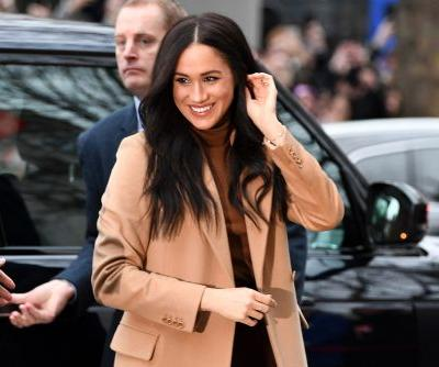 Meghan Markle shines in shades of brown for Canada House visit