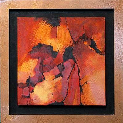"""Contemporary Abstract Art Painting, """"SANDSTONE, 12074"""" by Carol Nelson Fine Art"""