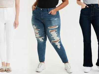 American Eagle Is Launching Extended Sizing & New Curvy Jeans For Everyone To Find Their Perfect Pair