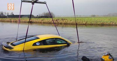 Watch An Audi R8 Get Fished Out Of A River After An Embarrassing Crash