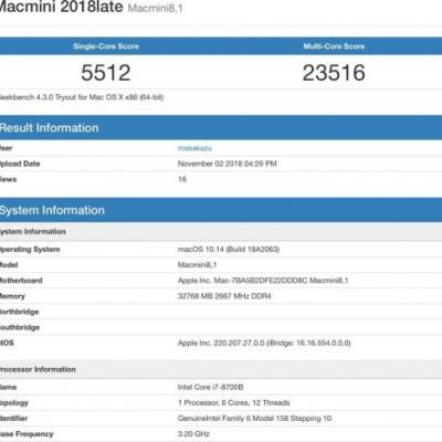 First Mac Mini Benchmark Surfaces Ahead of November 7 Launch