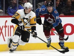 Avs overcome Crosby's natural hat trick, beat Pens 6-3