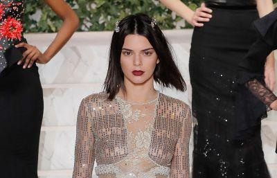 Kendall goes see-thru to cap off first day of New York Fashion Week