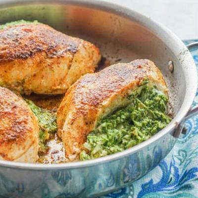 Low Carb Stuffed Chicken Dinner