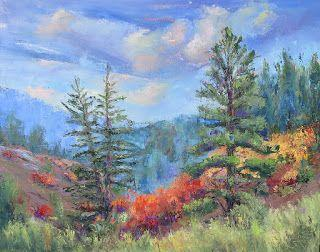 Blanco Basin Color Patterns, New Contemporary Landscape Painting by Sheri Jones
