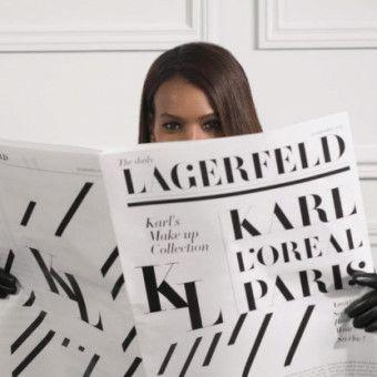 Karl Lagerfeld Designed a Makeup Collection for L'Oréal Prior to His Death