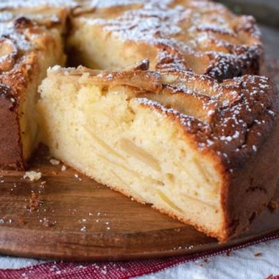 Moist Apple Cake loaded with apples
