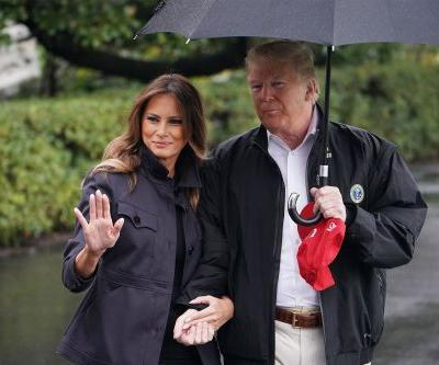 Donald and Melania Trump begin tour of towns destroyed by Hurricane Michael