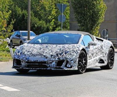 Lamborghini Huracan Spyder Facelift Spied Looking Angry