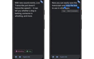 Google's Live Transcribe is getting sound events and transcription saving