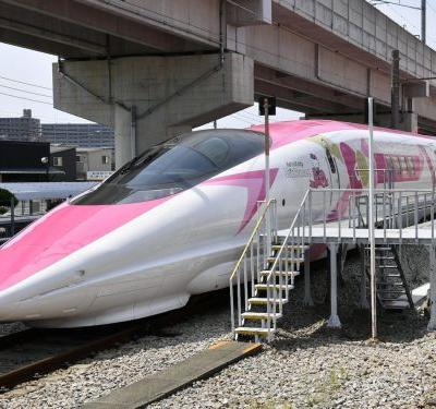 Japan just unveiled a Hello Kitty-themed bullet train - here's what it's like inside