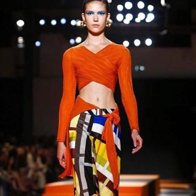 Missoni's forte for print and color continues for SS16, with