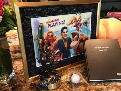 Reggie got some sweet gifts after retiring from Nintendo