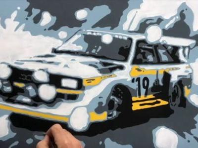Slide Into 2019 With This Awesome Audi Quattro Art Timelapse