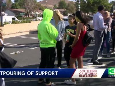 Outpouring Of Support For Thousand Oaks Following Mass Shooting