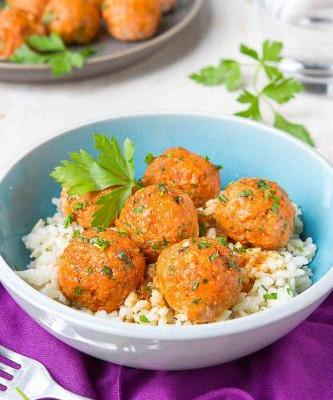 Soy Honey Salmon Meatballs Recipe