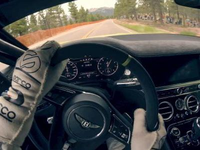 Ride On Board The Bentley Continental GT As It Sets a Pikes Peak Record